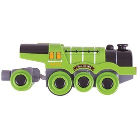 Bigjigs Rail elektrická lokomotiva zelená Flying Scotsman