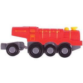 Bigjigs Rail elektrická parní lokomotiva červená