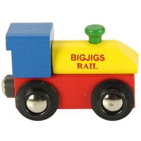 Dřevěná vláčkodráha Bigjigs - Lokomotiva