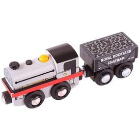 Originální dřevěná lokomotiva Bigjigs - Peckett