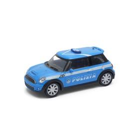 Welly - Mini Cooper S 1:43 policie modrá
