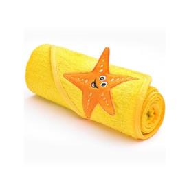 SENSILLO Dětská osuška 3D Zvířátka 75x75 cm yellow
