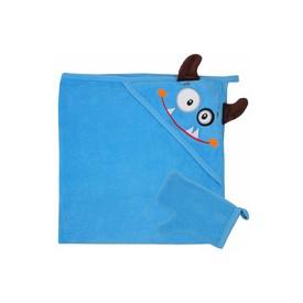 KOALA Dětská osuška s žínkou v krabičce Tvoreček 100x90 cm modrá