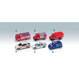 Welly - Urban Spirit Záchranářské auta 1ks -  modrá policie 6