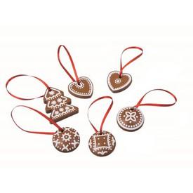 Vánoční dekorace - Perníčky 6ks v krabičce