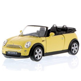 Welly -  Mini Cooper S Cabrio 1:34 žluté