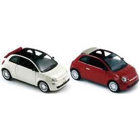 Welly - Fiat 500C (2010) model 1:34 bílý