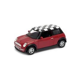 Welly - Mini Cooper (šachovnice) model 1:34 oranžový