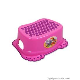 TEGA BABY Dětské protiskluzové stupátko do koupelny Tlapky růžové