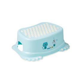 TEGA BABY Dětské protiskluzové stupátko do koupelny Pejsek a kočička modré