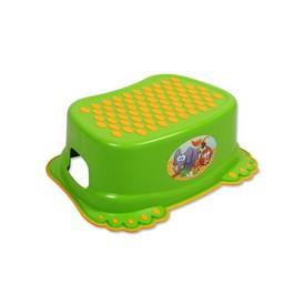 TEGA BABY Dětské protiskluzové stupátko do koupelny Tlapky zelené