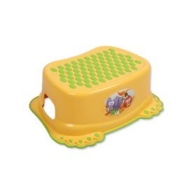 TEGA BABY Dětské protiskluzové stupátko do koupelny Tlapky žluté