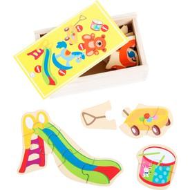 Dřevěné puzzle- Hračky
