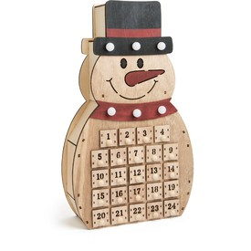 Legler Dřevěný adventní kalendář - Sněhulák