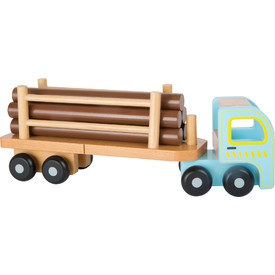 Tahač s návěsem na dřevo