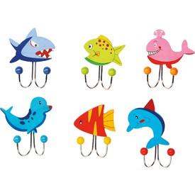 Věšák -  Mořská zvířátka 1ks  zelená ryba