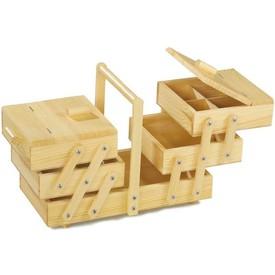 Dřevěný skládací patrový box na cokoliv