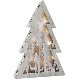Dřevěný vánoční stromeček se světlem velký