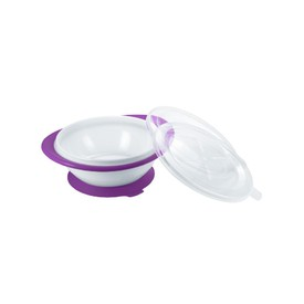 NUK Dětská miska s přísavkou Easy Learning fialová