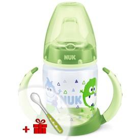 NUK Kojenecká láhev na učení 150 ml světle zelená monster