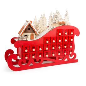 Legler Dřevěný adventní kalendář - Sáňky