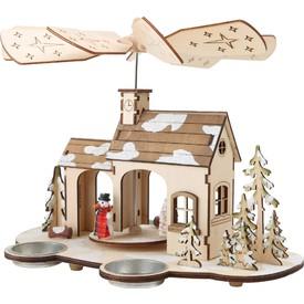 Dřevěná vánoční pyramida Advent