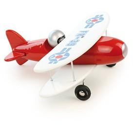 Vilac dřevěné letadlo červený dvouplošník - poškozený obal