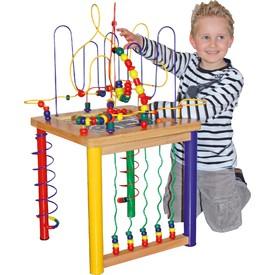 Dřevěné hračky - Velký motorický stolek - poškozený obal