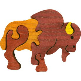Dřevěné vkládací puzzle z masivu - vkládačka Malý bizon