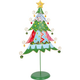 Dekorace vánoční stromeček multibarevný
