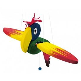 CEEDA CAVITY Dřevěná hračka na zavěšení Papoušek malý barevný