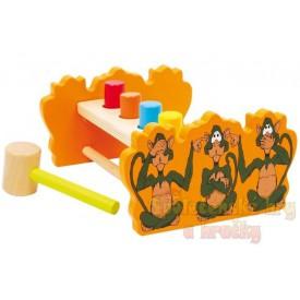 Zatloukací lavička s otočným prknem opice