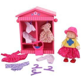 Dřevěné hračky Bigjigs - Šatník panenky Daisy