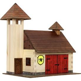 Dřevěná slepovací stavebnice Walachia Hasičská zbrojnice