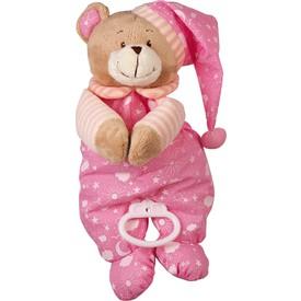 Hrací medvídek růžový