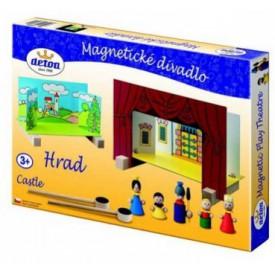 Dřevěné hračky - Dětské divadlo magnetické - Hrad