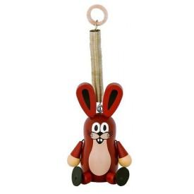 Dřevěné hračky -  dekorace postavička Zajíc velký na pružině