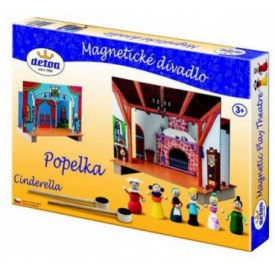 Dřevěné hračky - dětské divadlo magnetické - Popelka