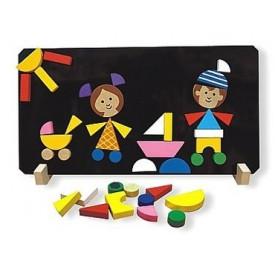Dřevěné hračky - Magnetické puzzle Děti