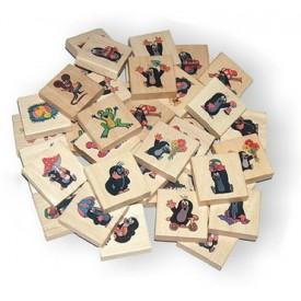 Dřevěné hračky - dřevěné hry - Pexeso krtek