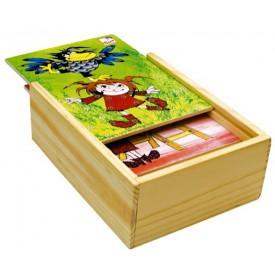 Dřevěné hračky-motorické hry- Pohádky - vyšívání