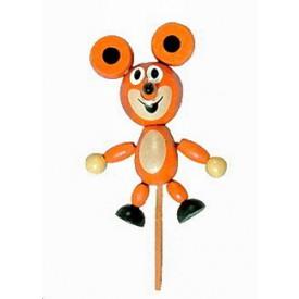 Dřevěné hračky - dřevěné dekorace - Myška magnetek