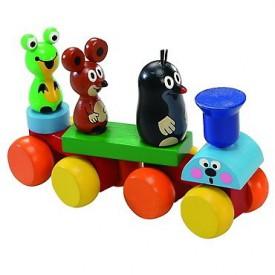 Dřevěné hračky -  dřevěný vláček - Vláček Krteček