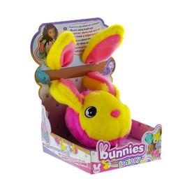 TM Toys plyšový králík růžovo žlutý BUNNIES