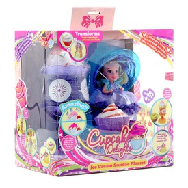 Cupcake Panenka zmrzlinový pohár sada fialová