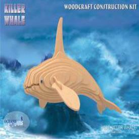 Dřevěná skládačka - Kosatka H008