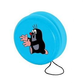 Dřevěné hračky - Dřevěné hry Jo-jo modré s Krtkem běžícím
