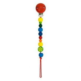 Dřevěné hračky pro nejmenší -  Baby klips červený