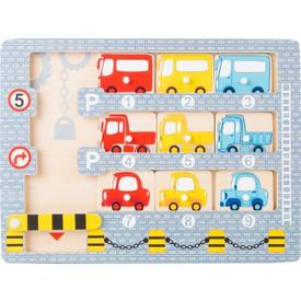 Vkládací puzzle - Garáž s autíčky