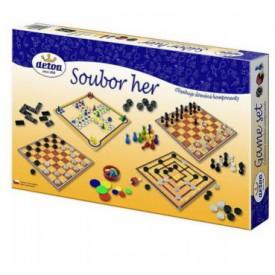 Dřevěné hračky - Dřevěné hry - Soubor her